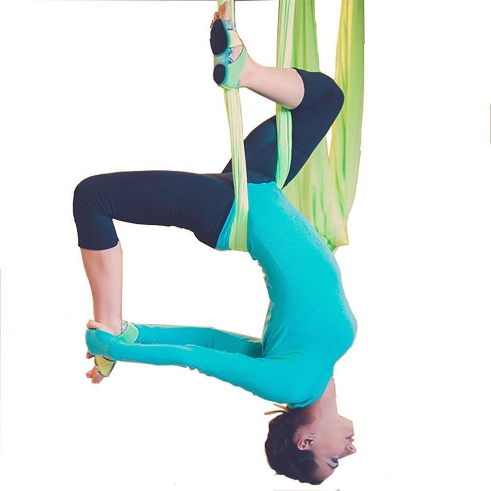 E-Bestar Yoga DIY Silk Pilates Premium Aerial Silks Equipment Aerial Yoga Tuch Aerial Silk elastische Yoga Hängematte NUR Stoff KEIN Zubehör 5 Meter