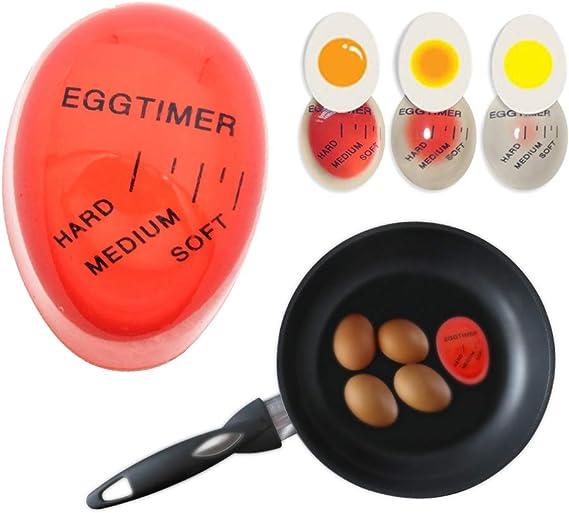 2 Pack,Stainless Steel Egg Slicer Egg Cooking Timer Smart Egg Timer for Strawberries Cheese Mini Kitchen Timer Kiwi Fruits Egg Boiled Timer Boiled Potatoes Color Changing Kitchen Gadget