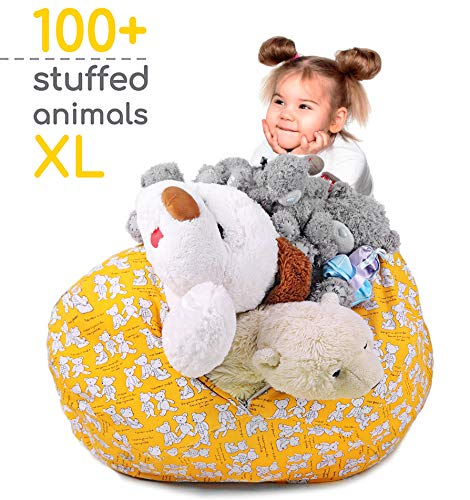 - Zupo Crafts Stuffed Animal Storage Bean Bag - Toy Storage Bean Bag Cover Extra Large Size 38