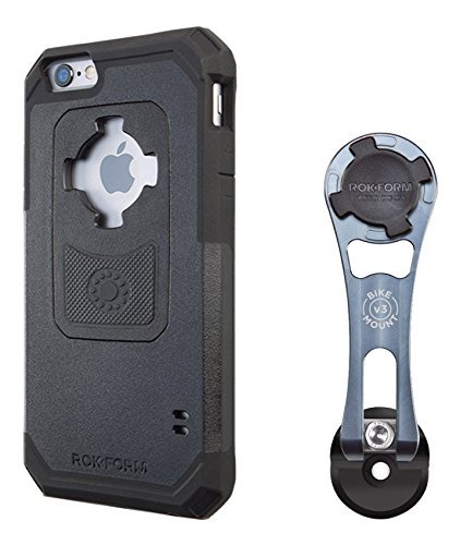 UPC 817667015175, Rokform iPhone 6/6s Pro Series Bike Mount Kit & iPhone 6/6s Rugged Case, light CNC Machined Aluminum, Adjustable, Safe, Quad Tab, Twist Lock & Magnetic Mount System, 331799-iP6
