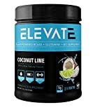 Elevate Nutrition Plant-Based Vegan BCAA Supplement for Muscle Building and Hydration- Energy Booster- All-Natural Food-Sourced BCAA 2:1:1 Ratio- Glutamine, B12, Non-GMO