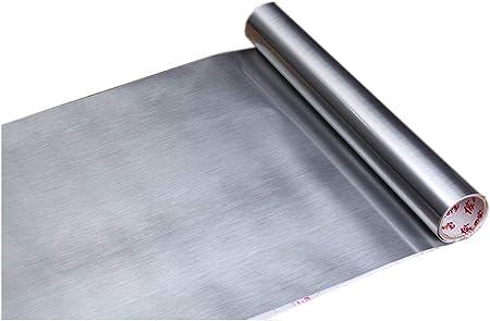 Revestimiento de vinilo autoadhesivo de acero inoxidable cepillado ...