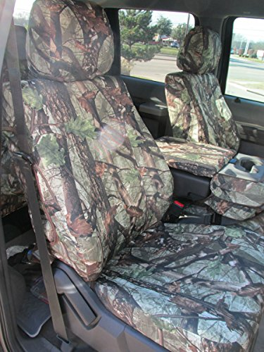 Durafit Seat Covers, F486-DS1 Camo-2014- Ford F150 2015 F250/F550 XLT and Lariat 40/20/40 Split Seat with Opening Center Console in DS1 Camo Endura
