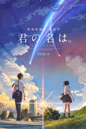 /Your Name/ /Japanese Movie Wall Poster Print/ /30/cm x 43/cm Brand New Kimi no na wa/