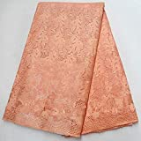 Laliva Rhinestones African Swiss Voile Lace African Polish Swiss Cotton Voile Lace Fabric for Men and Women - (Color: 7)
