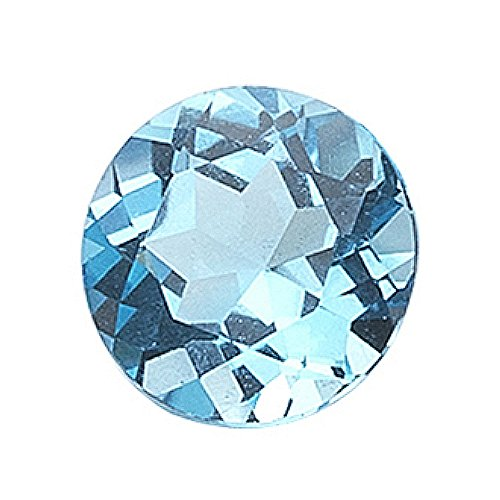 0.73-1.40 Cts of AAA 6 mm Round Loose Swiss Blue Topaz ( 1 pc ) Gemstone