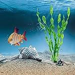 MyLifeUNIT Artificial Seaweed Water Plants for Aquarium, Plastic Fish Tank Plant Decorations 10 PCS 14