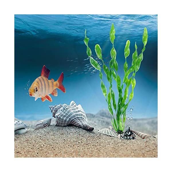MyLifeUNIT Artificial Seaweed Water Plants for Aquarium, Plastic Fish Tank Plant Decorations 10 PCS 6