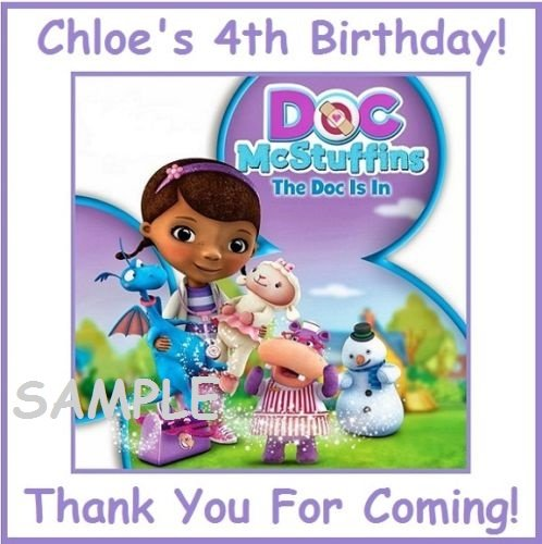 12 Doc McStuffins Stickers, party supplies, Bag labels, Decorations, Birthday, Treat Bag Labels