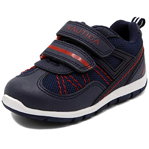 Nautica Kids Averell Sneakers Double Strap Casual Athletic Shoes Mesh-Navy/Red-12