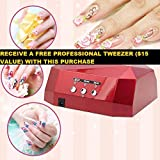 uv lamp for gel nails opi - 36W LED Nail Dryer Diamond Curing Machine For Timer UV Gel Lamp Nail Polish -36W Red +Free professional tweezer