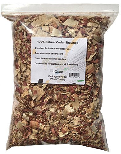 100% Natural Cedar Shavings (4 - Chips Garden Wood
