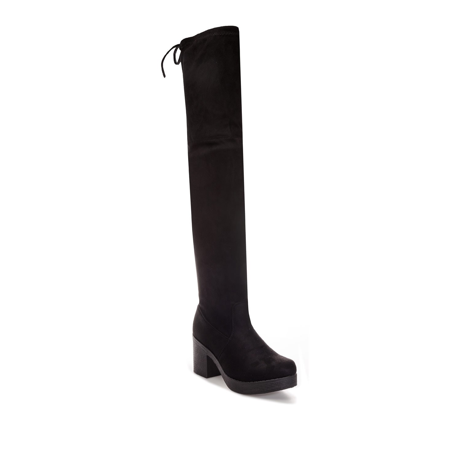 84315bc6220 Truffle Collection Womens Womens Block Heel Over The Knee Boots in Black -  UK 6  Amazon.co.uk  Shoes   Bags