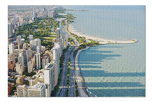 View of The Chicago from Hancock Tower Photography A-90350 (20x30 Premium 1000 Piece Jigsaw Puzzle, Made in USA!) - Hancock Tower