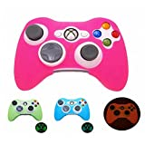 Cheap Pink Glow in Dark Xbox 360 Game Controller Silicone Case Skin Protector Cover by BLANCHE_ZHU