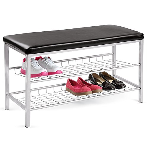 2-Tier Shoe Rack with Bench for a Convenient Way to Store and Take On and Off Shoes (Best Way To Store Shoes)