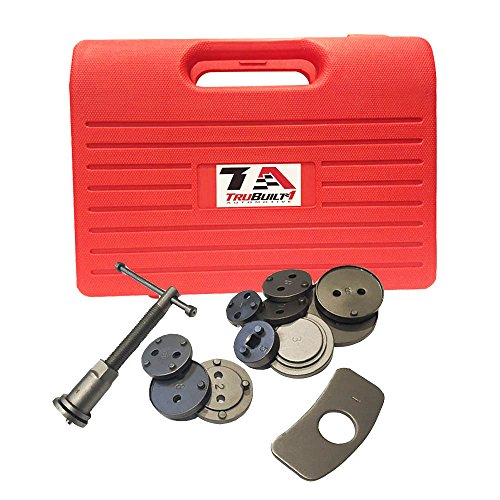 T1A Precision Brake Caliper Wind Back Tool Set - 12 Piece Kit - Fits Chevy, Toyota, Honda, Ford and MOST Other Domestic and Import Vehicles