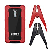GOOLOO 600A Peak Car Jump Starter Portable Phone Power Bank (Up to 6.0L Gas or 4.5L Diesel Engine) with Dual USB Quick Charge Port Auto Battery Charger Pack Booster Built in LED Light, Black/Red