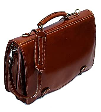 Amazon Com Cenzo Italian Leather Messenger Bag