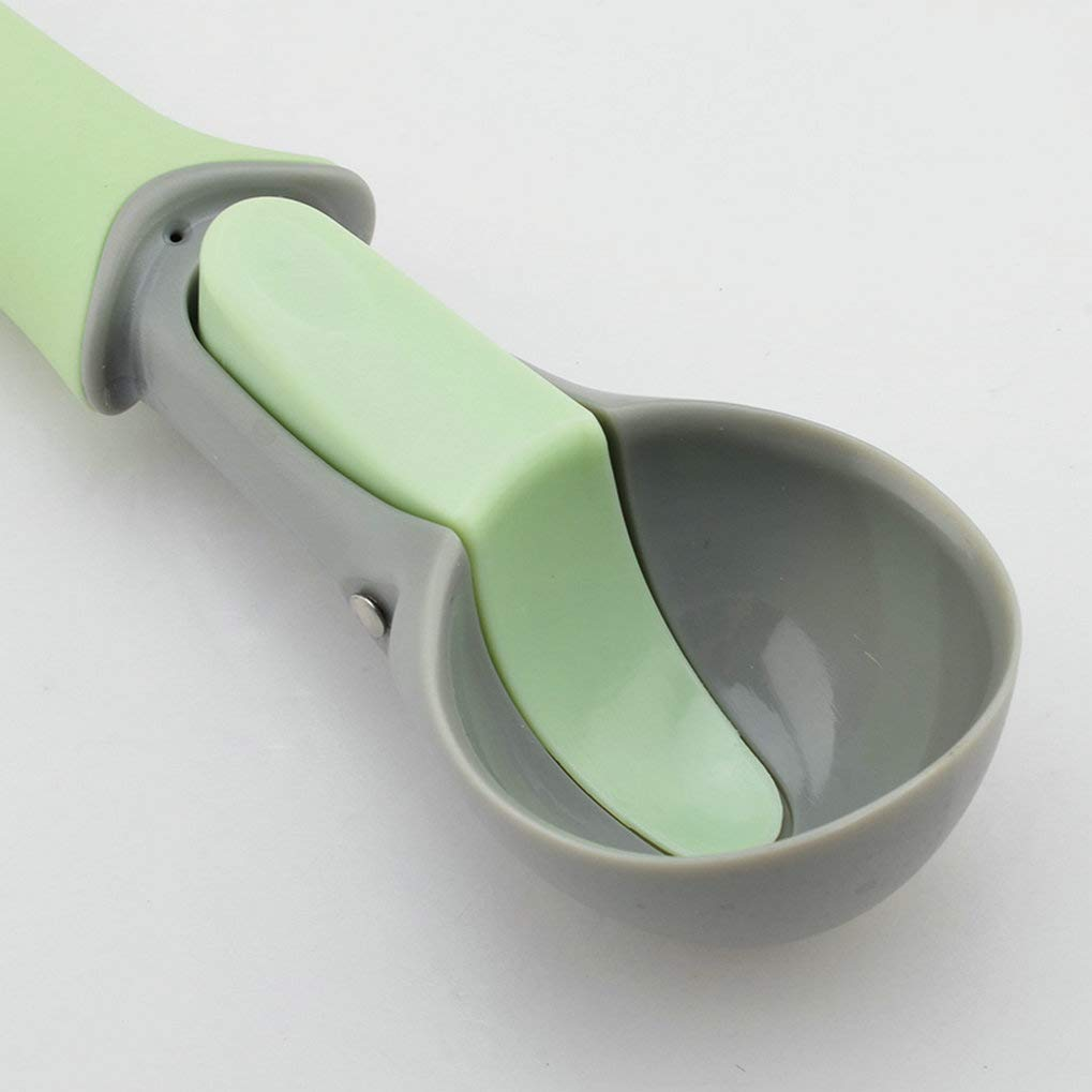 GuDoQi 2 Pack Ice Cream Scoop Easy Trigger For Ice Cream And Melon Ball Kitchen Gadgets Green