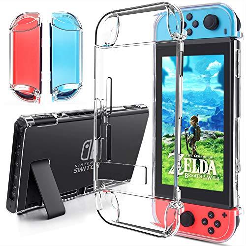 Funda para Nintendo Switch – Gogoings Tecnología de Absorción de Golpes Carcasa con Protector Acolchado TPU Transparente Premium Funda para Nintendo Switch Console y Joy Cons
