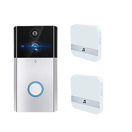 Timbre Video Wifi, HD 720P Inteligente Cámara Para Puerta Contiene Visión Nocturna, Dispositivo De