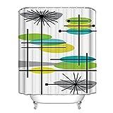 Modern Shower Curtains Mid Century Modern 44 Waterproof Polyester Fabric Bathroom Shower Curtain 60x72inch
