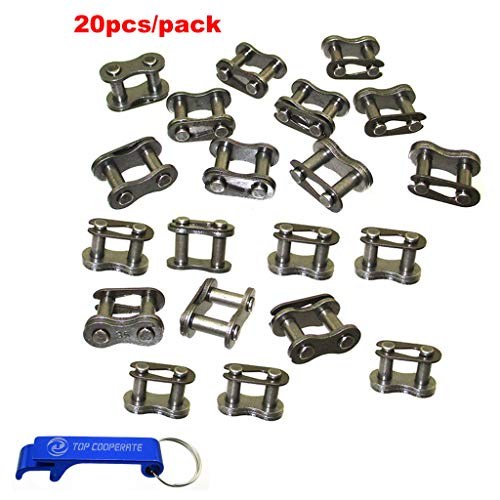 (TC-Motor 20pcs #35 Master Chain Link For Baja Doodle Bug Motovox Mini Bike For Harbor Freight Predator 212cc Go Kart Cart)