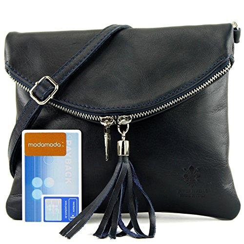 borsa di pelle ital. pochette pochette borsa tracolla Ragazze T139 piccola pelletteria, Präzise Farbe (nur Farbe):T139 Dunkelblau