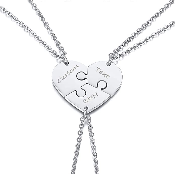 CliPons Medical Alert Womens Mens BFF Necklace Inspirational Pendant Quote Keep me in Your Heart