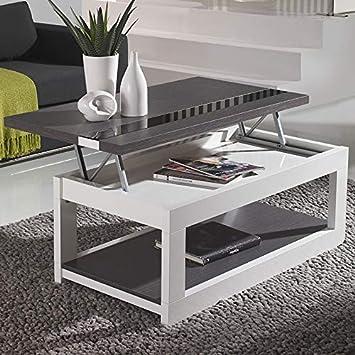 M 020 Montreal Couchtisch Klappbar Modern Weiss Grau Amazon De