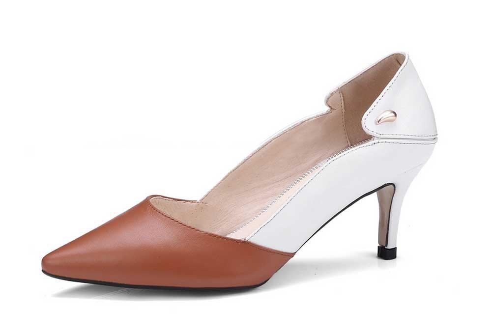 GLTER Pumps Frau Spitze Pumps GLTER 2018 Herbst Neue High Heels Mischfarbe Fashion Low Heel Schuhe 8fa9a0