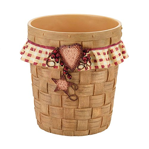 Avanti Hearts and Stars Waste Basket, Multicolored