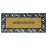 Nedia Home 18021 Rubber Coir 24'' x 57'' Acanthus Mat, Personalized
