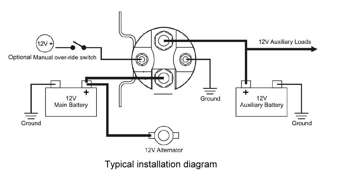 stinger sgp38 80 amp battery isolator and relay wiring diagram
