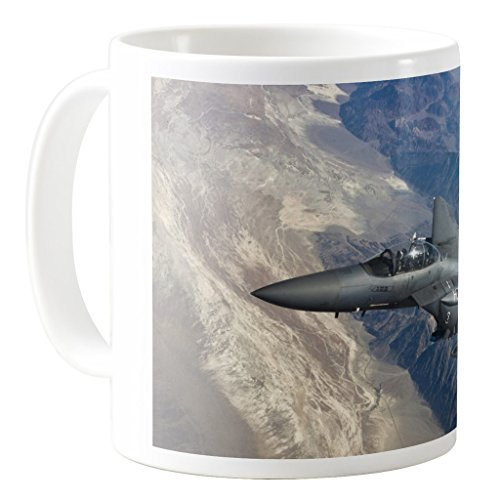 - AquaSakura - F-15e Strike Eagle Aircraft - 11oz Ceramic Coffee Mug Tea Cup
