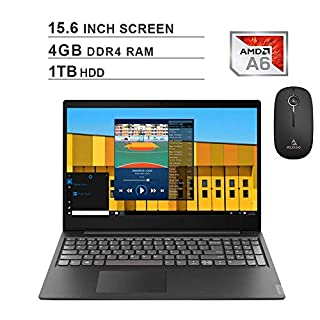 2020 Newest Lenovo Premium IdeaPad S145 15.6 Inch Laptop (AMD A6-9225 up to 3.1GHz, 4GB DDR4 RAM, 1TB HDD, AMD Radeon R4, Webcam, Windows 10 S) (Black) + NexiGo Wireless Mouse Bundle
