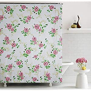Home Candy Glory PEVA Shower Curtain – 70″x70″, Multicolor