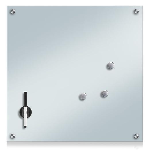114 opinioni per Zeller 11651Lavagnetta in vetro, legno, Vetro, bianco, 55 x 55 cm