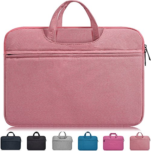 Dealcase 13-13.3 Inch Laptop Sleeve Case Cover Compatible Acer Chromebook R 13/Acer Aspire R13,Huawei MateBook X Pro 13.9,DELL XPS 13 9360 9370,LG Toshiba ASUS Samsung HP 13.3 inch Notebook Bag,Pink