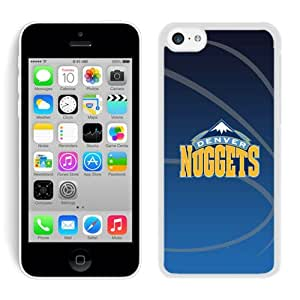New Custom Design Cover Case For iPhone 5C Generation Denver Nuggets 11 White Phone Case