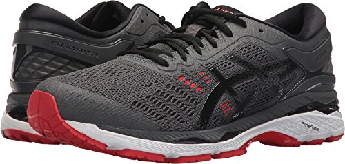 723333845802 Galleon - ASICS Men s Gel-Kayano 24 Running Shoe Dark Grey Black Fiery Red  Size 9 M US
