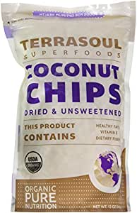 Terrasoul Superfoods Raw Coconut Chips (Organic), 12 Ounces