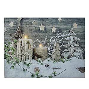 Northlight led lighted country rustic winter for Christmas wall art amazon