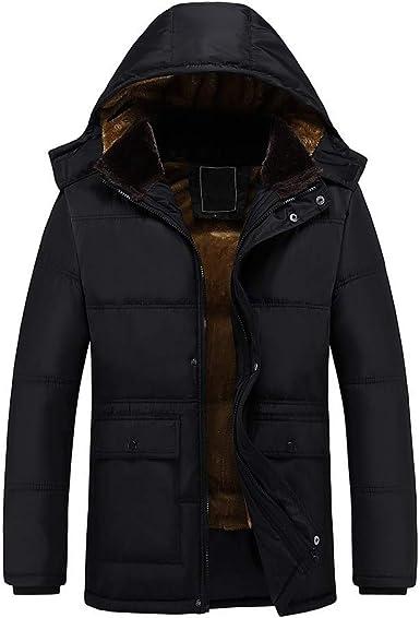 Chaqueta Hombre Invierno Cazadoras Hombre Parka con Capucha Jacket Abrigo de Algodón Cazadora Chaqueta de Abrigo Casual Chaqueta Térmica de Cuero Abrigos - Logobeing Chaquetas K510 (XXXXXXL, Negro): Amazon.es: Ropa y accesorios