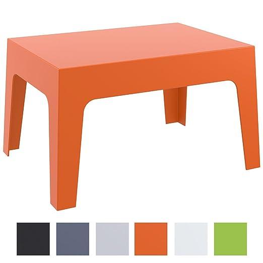 CLP Table Basse de Jardin Box en Plastique -Table d\'Appoint pour Usage  Extérieur Empilable - Hauteur 43 cm Résistante aux Intempéries et aux  Rayons UV ...