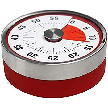 Magnetic Mechanical Rotate Time Timer 60 Minutes Capacity Counter Alarm Sound Ring Working When Time Is Reached For Kitchen Office Timekeeper