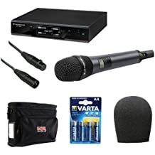 Sennheiser EW D1-835S Evolution Wireless D1 Digital Vocal System with Handheld Microphone E835 Dynamic Cardioid Capsule Plus Wireless Microphone Accessory Kit