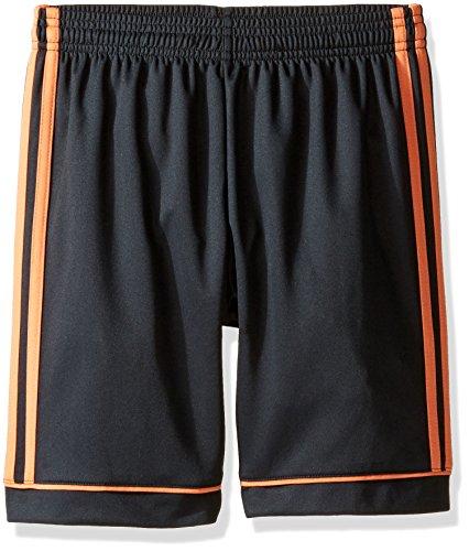 adidas Youth Soccer Squadra 17 Shorts, Dark Grey/Easy Orange, Large