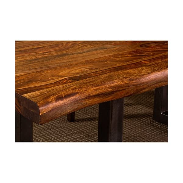 """Hillsdale Emerson 80"""" Dining Table in Natural Sheesham"""